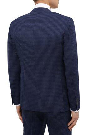 Мужской шерстяной костюм-тройка CANALI темно-синего цвета, арт. 11280/19/BR03215   Фото 3