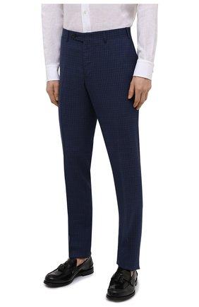 Мужской шерстяной костюм-тройка CANALI темно-синего цвета, арт. 11280/19/BR03215   Фото 4