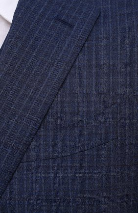 Мужской шерстяной костюм-тройка CANALI темно-синего цвета, арт. 11280/19/BR03215   Фото 8