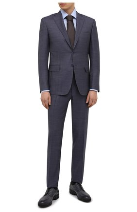 Мужской шерстяной костюм CANALI голубого цвета, арт. 13290/31/BF00068   Фото 1