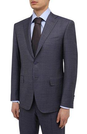 Мужской шерстяной костюм CANALI голубого цвета, арт. 13290/31/BF00068   Фото 2