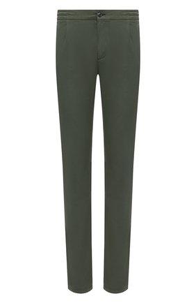 Мужские хлопковые брюки CANALI зеленого цвета, арт. 91608/PY00674   Фото 1