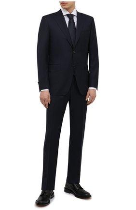 Мужской шерстяной костюм CANALI темно-синего цвета, арт. E11220/10/AX01199 | Фото 1