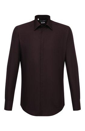 Мужская хлопковая рубашка DOLCE & GABBANA бордового цвета, арт. G5GE6T/FR5YB   Фото 1