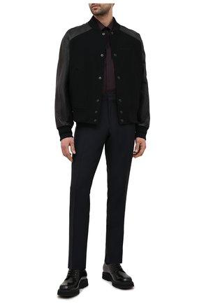 Мужская хлопковая рубашка DOLCE & GABBANA бордового цвета, арт. G5GE6T/FR5YB   Фото 2