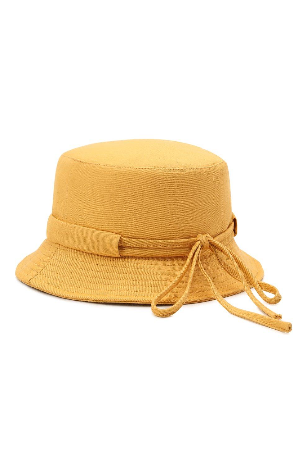 Мужская хлопковая панама le bob gadjo JACQUEMUS желтого цвета, арт. 215AC03/506220 | Фото 2