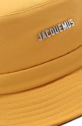 Мужская хлопковая панама le bob gadjo JACQUEMUS желтого цвета, арт. 215AC03/506220 | Фото 3