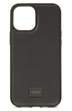 Чехол для iphone 12 pro max DOLCE & GABBANA серого цвета, арт. BP2906/AW394 | Фото 1