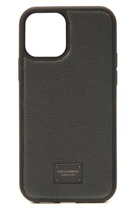Чехол для iphone 12 pro DOLCE & GABBANA серого цвета, арт. BP2905/AW394 | Фото 1