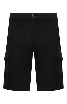 Мужские хлопковые шорты ELEVENTY черного цвета, арт. C70BERC02 TET0C028   Фото 1