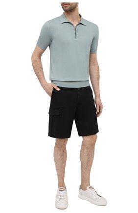 Мужские хлопковые шорты ELEVENTY черного цвета, арт. C70BERC02 TET0C028   Фото 2