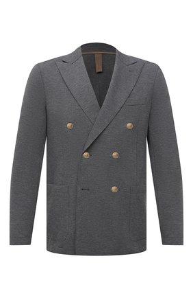 Мужской хлопковый пиджак ELEVENTY темно-серого цвета, арт. C70GIAC09 JAC23021 | Фото 1