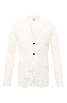 Мужской хлопковый пиджак ELEVENTY PLATINUM белого цвета, арт. C76GIAC01 MAG0A001   Фото 1