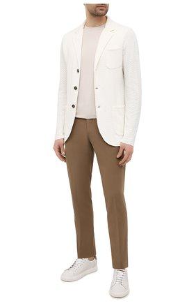 Мужской хлопковый пиджак ELEVENTY PLATINUM белого цвета, арт. C76GIAC01 MAG0A001   Фото 2