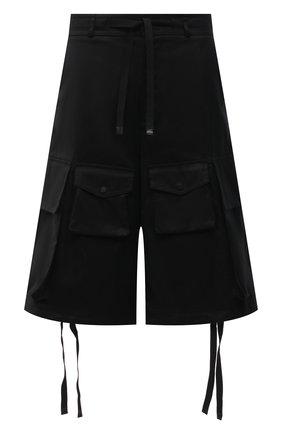 Мужские хлопковые шорты 2 moncler 1952 MONCLER GENIUS черного цвета, арт. G1-092-2B703-00-5499M | Фото 1 (Длина Шорты М: Ниже колена; Принт: Без принта; Стили: Гранж; Мужское Кросс-КТ: Шорты-одежда; Материал внешний: Хлопок)