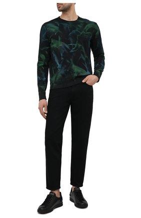 Мужской хлопковый свитшот SAINT LAURENT зеленого цвета, арт. 652506/Y36CZ | Фото 2 (Мужское Кросс-КТ: свитшот-одежда; Материал внешний: Хлопок; Длина (для топов): Стандартные; Стили: Гранж; Рукава: Длинные; Принт: С принтом)
