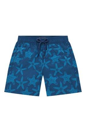 Детские плавки-шорты VILEBREQUIN синего цвета, арт. JIMH0D55/342 | Фото 1