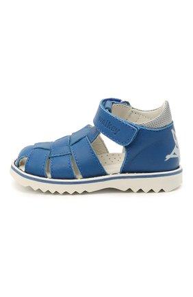 Детские кожаные сандалии WALKEY синего цвета, арт. Y1B2-41297-0030 | Фото 2