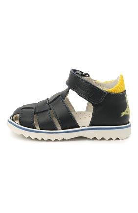 Детские кожаные сандалии WALKEY темно-синего цвета, арт. Y1B2-41297-0030 | Фото 2