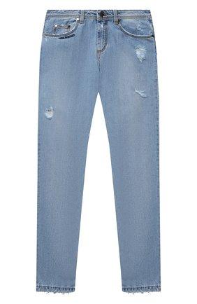 Детские джинсы NEIL BARRETT KIDS синего цвета, арт. 027906 | Фото 1