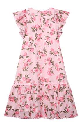 Детское платье ALBERTA FERRETTI JUNIOR розового цвета, арт. 027856   Фото 2