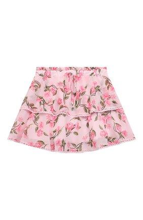 Детская юбка ALBERTA FERRETTI JUNIOR розового цвета, арт. 027855 | Фото 1