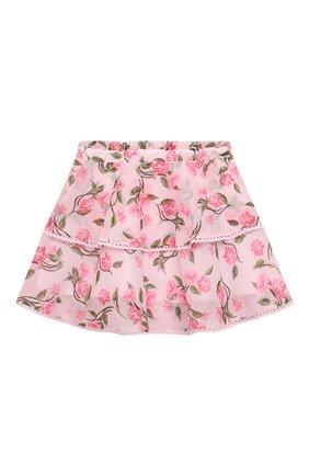 Детская юбка ALBERTA FERRETTI JUNIOR розового цвета, арт. 027855 | Фото 2