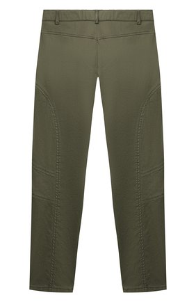 Детские хлопковые брюки ALBERTA FERRETTI JUNIOR зеленого цвета, арт. 027850 | Фото 2