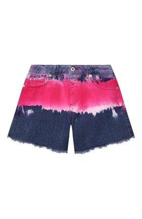 Детские джинсовые шорты ALBERTA FERRETTI JUNIOR фуксия цвета, арт. 027812   Фото 1