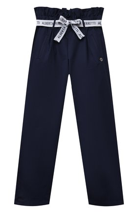 Детские хлопковые брюки ALBERTA FERRETTI JUNIOR синего цвета, арт. 027433 | Фото 1