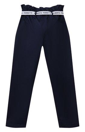 Детские хлопковые брюки ALBERTA FERRETTI JUNIOR синего цвета, арт. 027433 | Фото 2