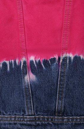 Детская джинсовая куртка ALBERTA FERRETTI JUNIOR фуксия цвета, арт. 027813 | Фото 3 (Рукава: Длинные; Кросс-КТ: Деним; Материал внешний: Хлопок; Ростовка одежда: 10 - 11 лет | 140 - 146см, 12 лет | 152 см, 13 - 15 лет | 158 см, 8 лет | 128 см)
