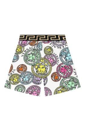 Детские хлопковые шорты VERSACE разноцветного цвета, арт. 1000346/1A00285/4A-6A | Фото 1