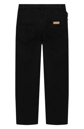 Детские джинсы VERSACE черного цвета, арт. 1000136/1A00169/8A-14A | Фото 2