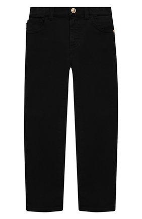 Детские джинсы VERSACE черного цвета, арт. 1000136/1A00169/4A-6A | Фото 1