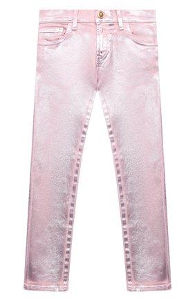 Детские джинсы VERSACE розового цвета, арт. 1000045/1A00050/8A-14A | Фото 1