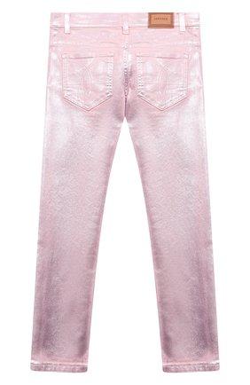 Детские джинсы VERSACE розового цвета, арт. 1000045/1A00050/8A-14A | Фото 2