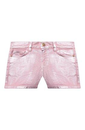 Детские джинсовые шорты VERSACE розового цвета, арт. 1000039/1A00050/8A-14A | Фото 1