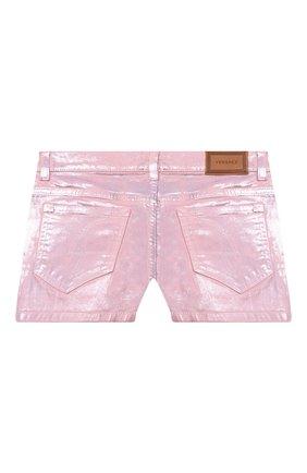 Детские джинсовые шорты VERSACE розового цвета, арт. 1000039/1A00050/8A-14A | Фото 2