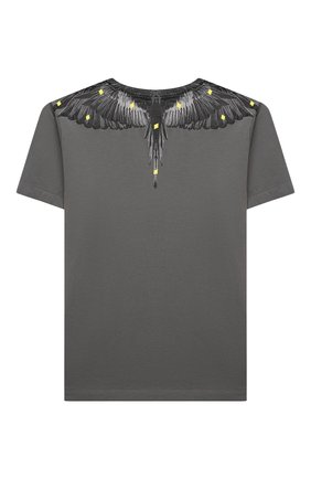 Детская хлопковая футболка MARCELO BURLON KIDS OF MILAN темно-серого цвета, арт. 21E/B/MB/1114/0010/8-14Y   Фото 2