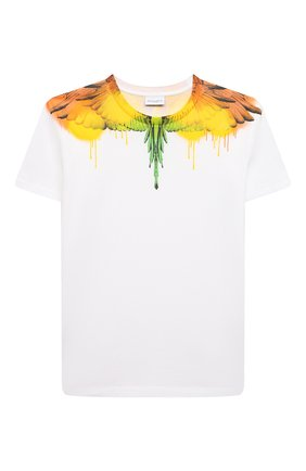 Детская хлопковая футболка MARCELO BURLON KIDS OF MILAN белого цвета, арт. 21E/B/MB/1104/0010/8-14Y   Фото 1
