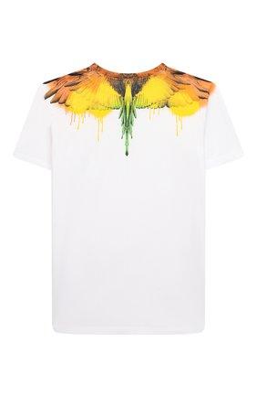 Детская хлопковая футболка MARCELO BURLON KIDS OF MILAN белого цвета, арт. 21E/B/MB/1104/0010/8-14Y   Фото 2