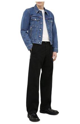 Мужские кожаные дерби BOTTEGA VENETA черного цвета, арт. 651308/V00H0 | Фото 2 (Материал внутренний: Натуральная кожа; Мужское Кросс-КТ: Броги-обувь; Стили: Классический)