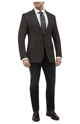 Мужская сорочка из хлопка и льна BRIONI белого цвета, арт. RCL400/P708Y | Фото 2 (Материал внешний: Лен, Хлопок; Случай: Формальный; Манжеты: На пуговицах; Воротник: Акула; Стили: Классический; Рубашки М: Classic Fit; Рукава: Длинные; Длина (для топов): Стандартные; Принт: Однотонные)