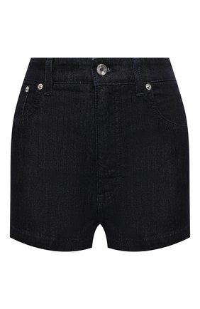 Женские джинсовые шорты DOLCE & GABBANA темно-синего цвета, арт. FTB06D/G8DA5   Фото 1 (Стили: Кэжуэл; Длина Ж (юбки, платья, шорты): Мини; Женское Кросс-КТ: Шорты-одежда; Материал внешний: Хлопок; Кросс-КТ: Деним)