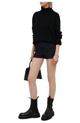 Женские джинсовые шорты DOLCE & GABBANA темно-синего цвета, арт. FTB06D/G8DA5   Фото 2 (Стили: Кэжуэл; Длина Ж (юбки, платья, шорты): Мини; Женское Кросс-КТ: Шорты-одежда; Материал внешний: Хлопок; Кросс-КТ: Деним)
