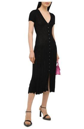 Женские кожаные босоножки  novio JACQUEMUS черного цвета, арт. 211F011/401990 | Фото 2
