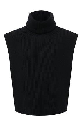 Женский шерстяной воротник TOTÊME черного цвета, арт. 211-890-750   Фото 1