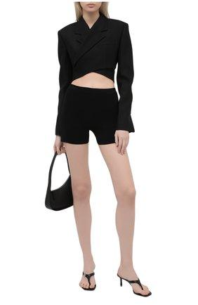 Женские шорты из вискозы JACQUEMUS черного цвета, арт. 211KN16/204991 | Фото 2
