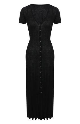 Женское хлопковое платье JACQUEMUS черного цвета, арт. 211KN20/200990 | Фото 1